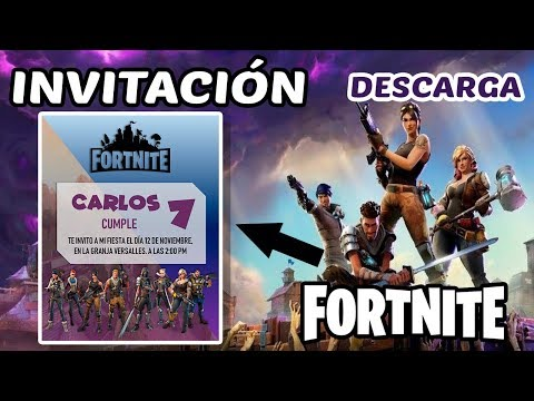 Tutorial Invitacion Cumpleaños Fortnite Youtube