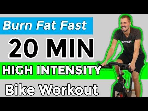 Burn Fat Fast 20 Minute High Intensity Bike Workout