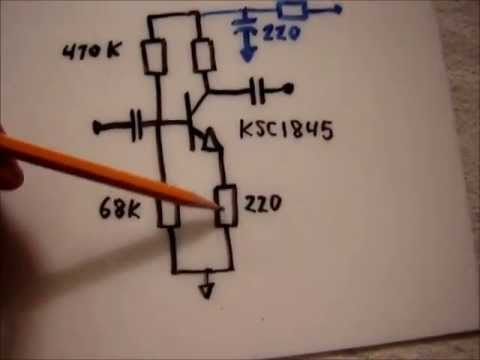 Transistor preamp circuit DIY