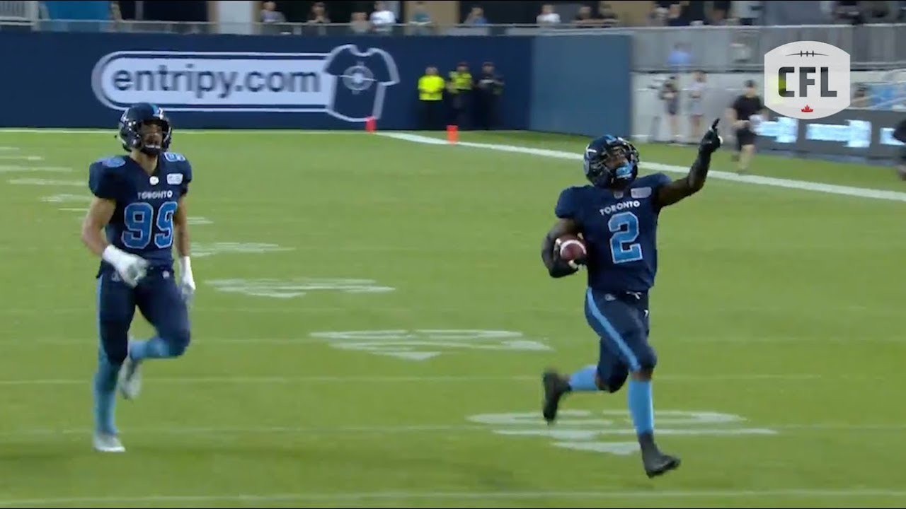 Incredible punt return TD by RB Chris Rainey | CFL 2019 - week 4
