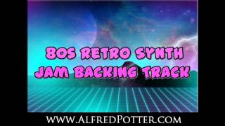 G minor 80s Retro Synth Jam Backing Track
