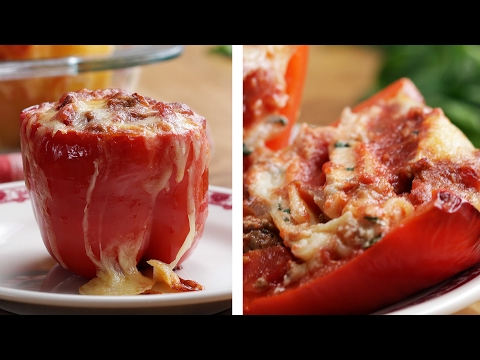 Pizza: Lasagna Stuffed Peppers