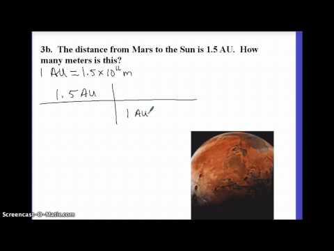 Astronomy: Unit Conversions