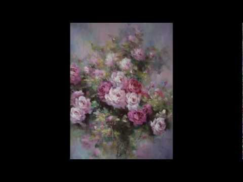 Картины цветов маслом, цветы в картинах, картины букетов