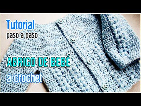 91790a83f Abrigo para bebé tejido a Crochet - Tutorial Paso a Paso (AJUAR ...