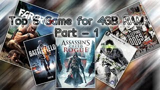 Top 5 Pc game for 4gb ram