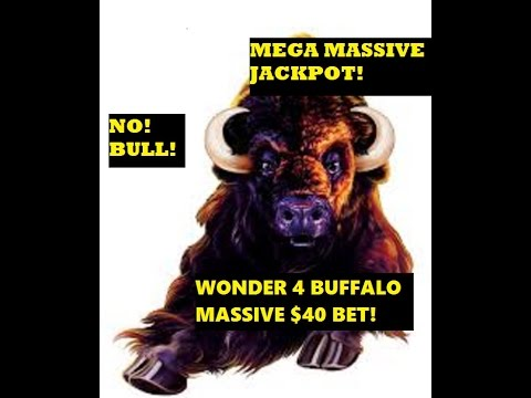 EXTREME HIGH ROLLING! WONDER 4 BUFFALO'S JACKPOT #55!