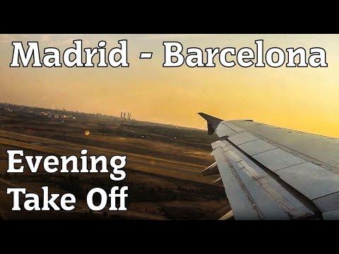 Amazing Sunset Take Off | IBERIA A321 | MADRID - BARCELONA