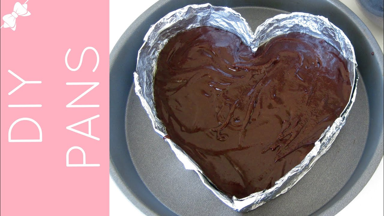 how to make diy cake pans heart cake pan cheesecake pan mini cakes lindsay ann bakes. Black Bedroom Furniture Sets. Home Design Ideas