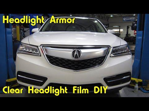 Clear Headlight Protection Film Tint Install DIY – Acura MDX – Headlight Armor