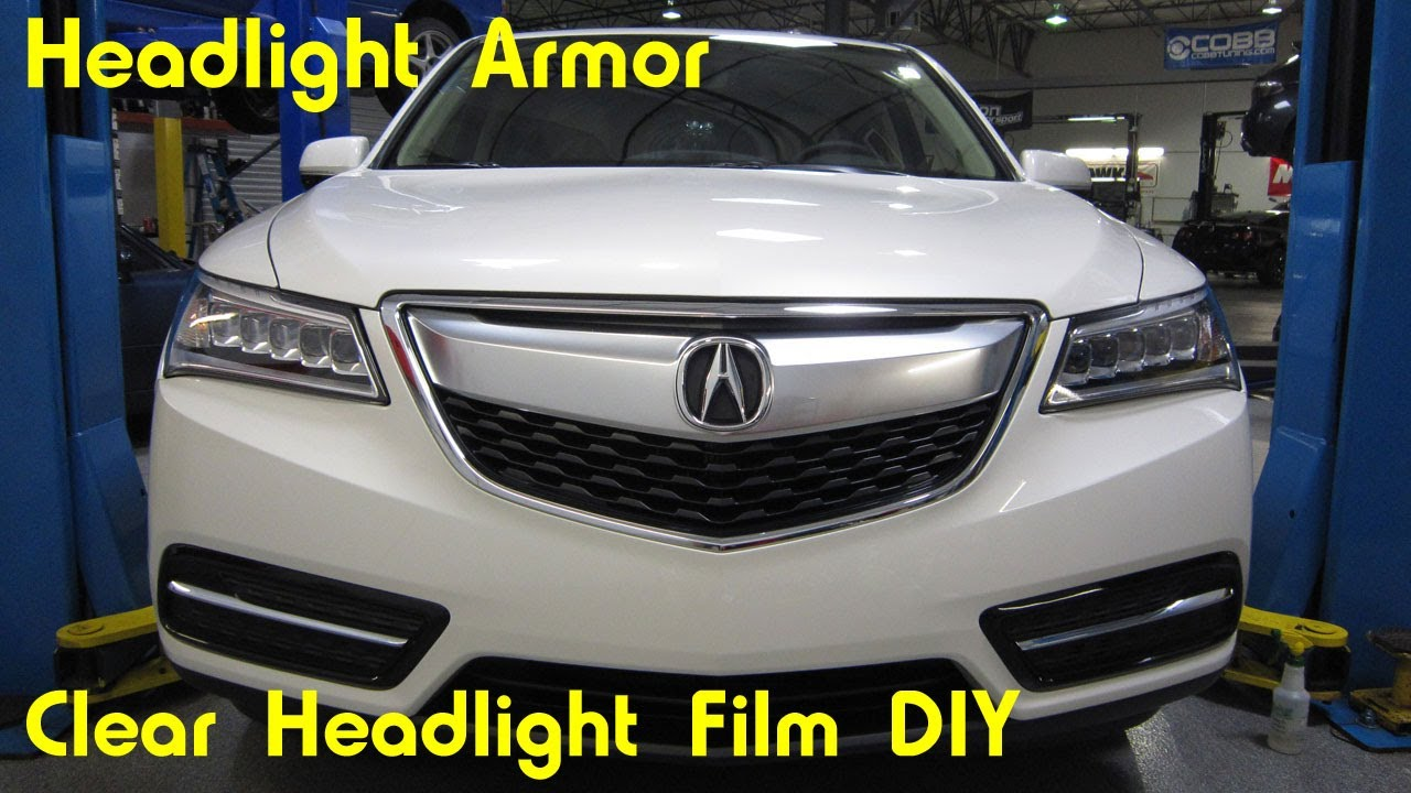 Clear Headlight Protection Film Tint Install Diy Acura Mdx