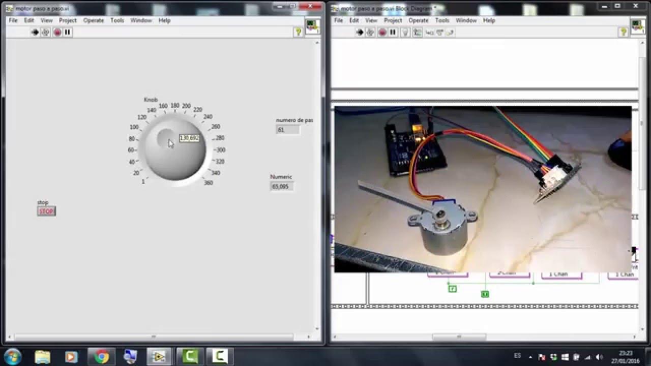 Motor paso a con arduino labview makerhub linx