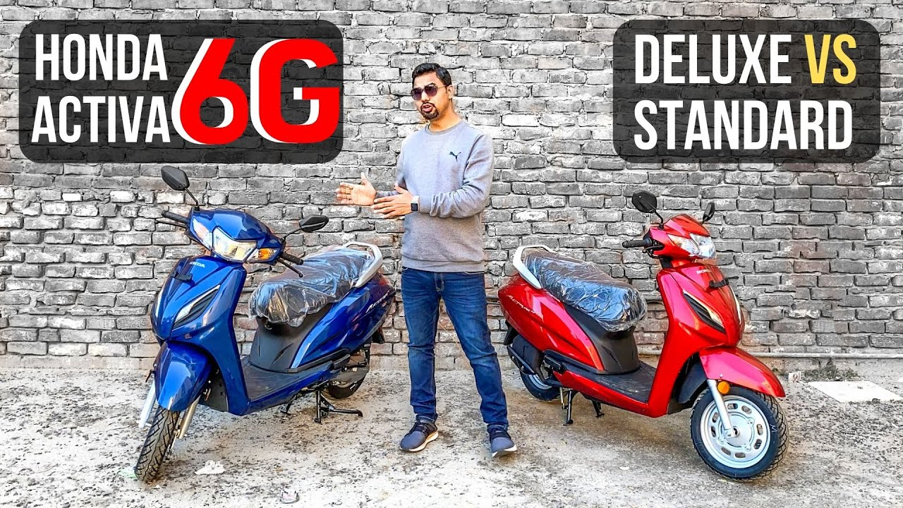 Bs6 Honda Activa 6g Dlx Vs Std Variant Comparison Youtube