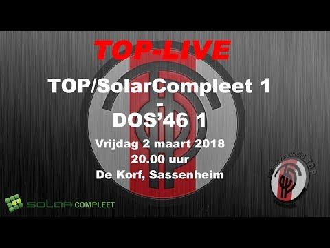 TOP/SolarCompleet 1 tegen DOS'46 1, vrijdag 2 maart 2018