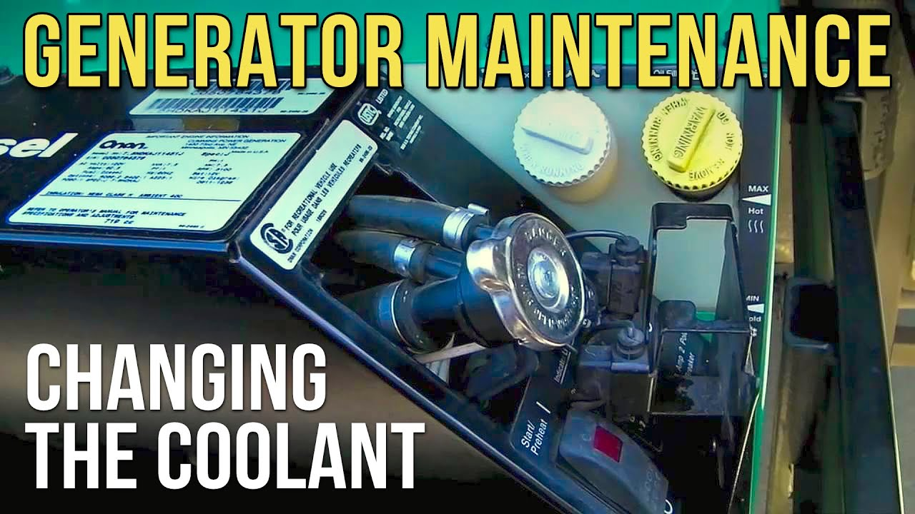 Change the Coolant in Your Onan Diesel RV Generator  YouTube