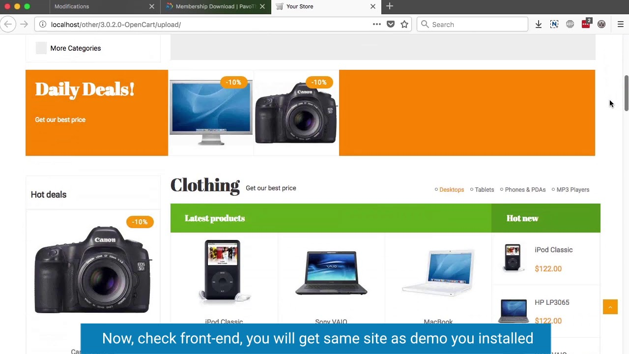 Opencart video tutorial: How to Install Opencart 3 Themes and sample data