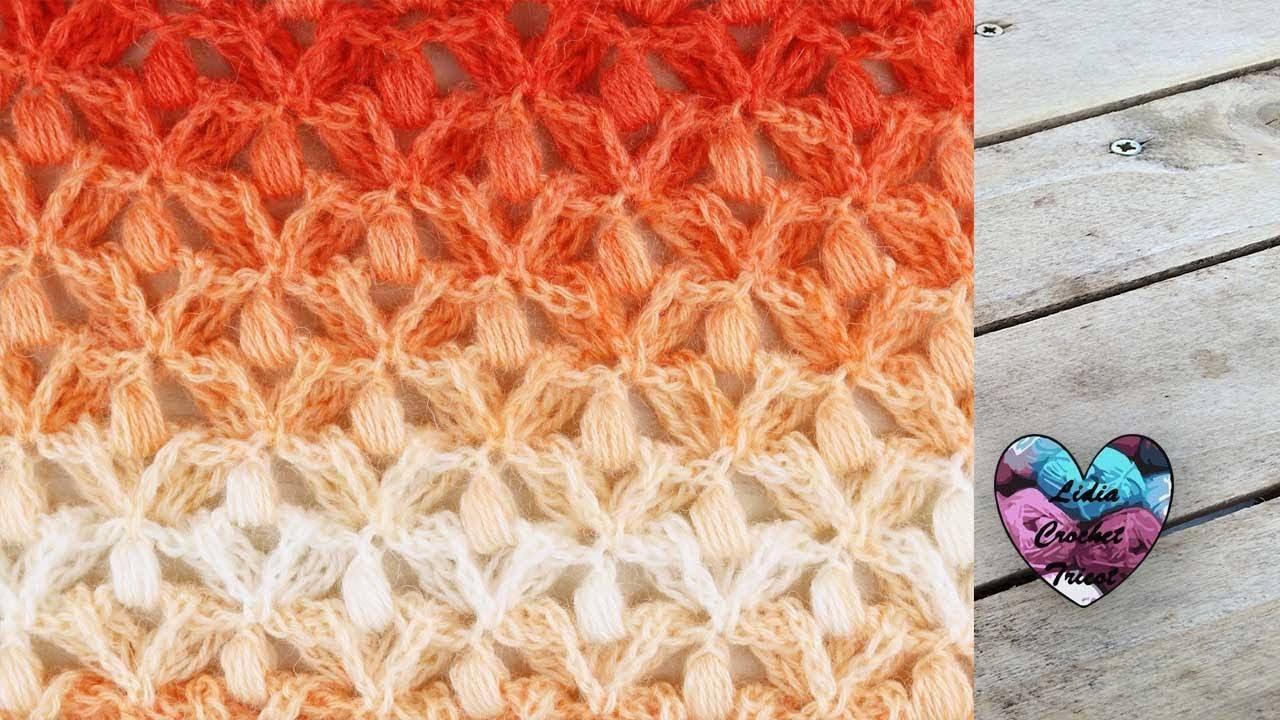 point crochet petites fleurs en relief  u0026quot lidia crochet tricot u0026quot