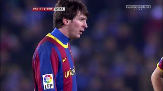 Lionel messi vs espanyol (away) 10-11 hd 720p by irammessitv