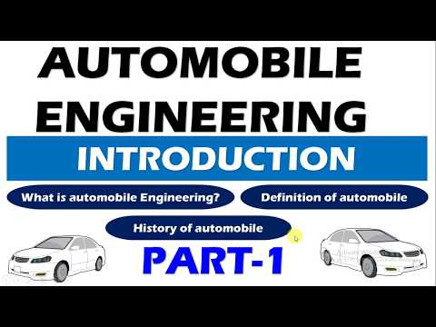 Automobile Engineering Introduction Part-1(Definition of Automobile and History of Automobile)
