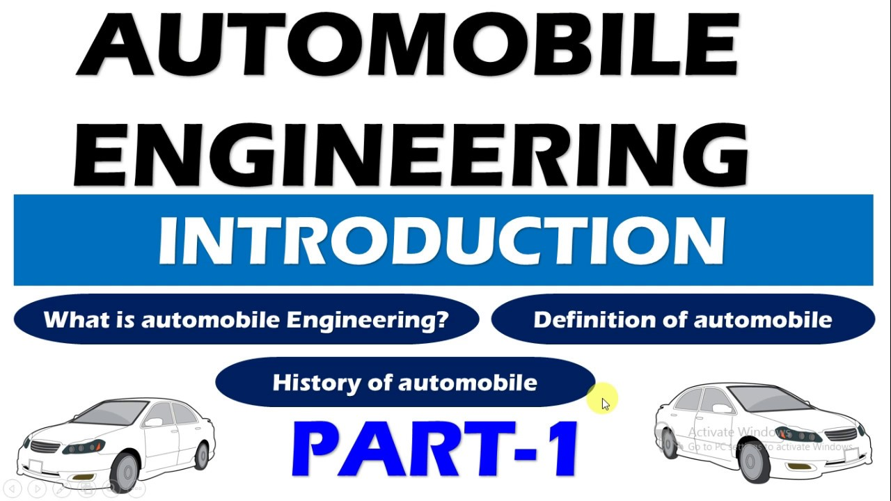 Automobile Engineering For Automobile Engineering Introduction Part 1 Definition Of Automobile And History Of Automobile