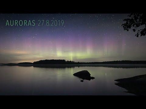 Auroras 27.8.2019 (4K TIMELAPSE)