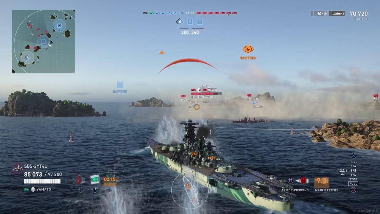 World of Warships: Legends IJN Yamato Legend Pt 1 250K Damage 1st Game On Ship - YouTube