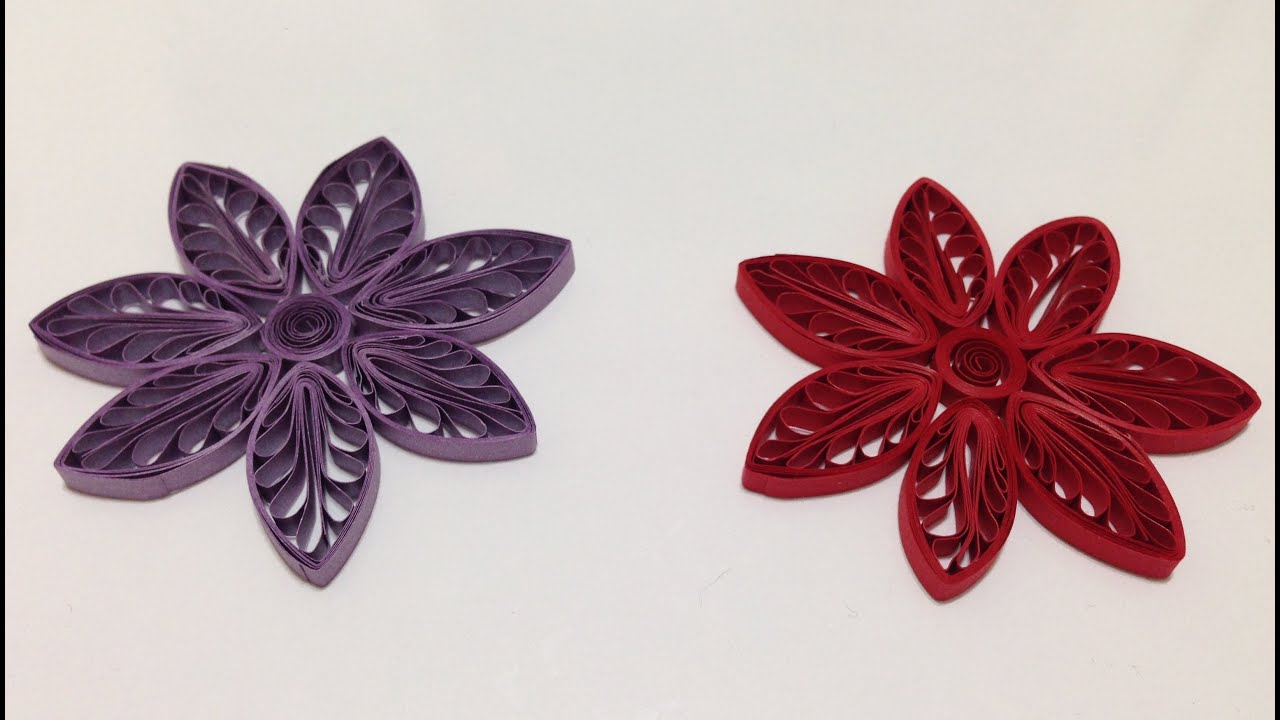 Quilling Flowers using a hair comb - YouTube