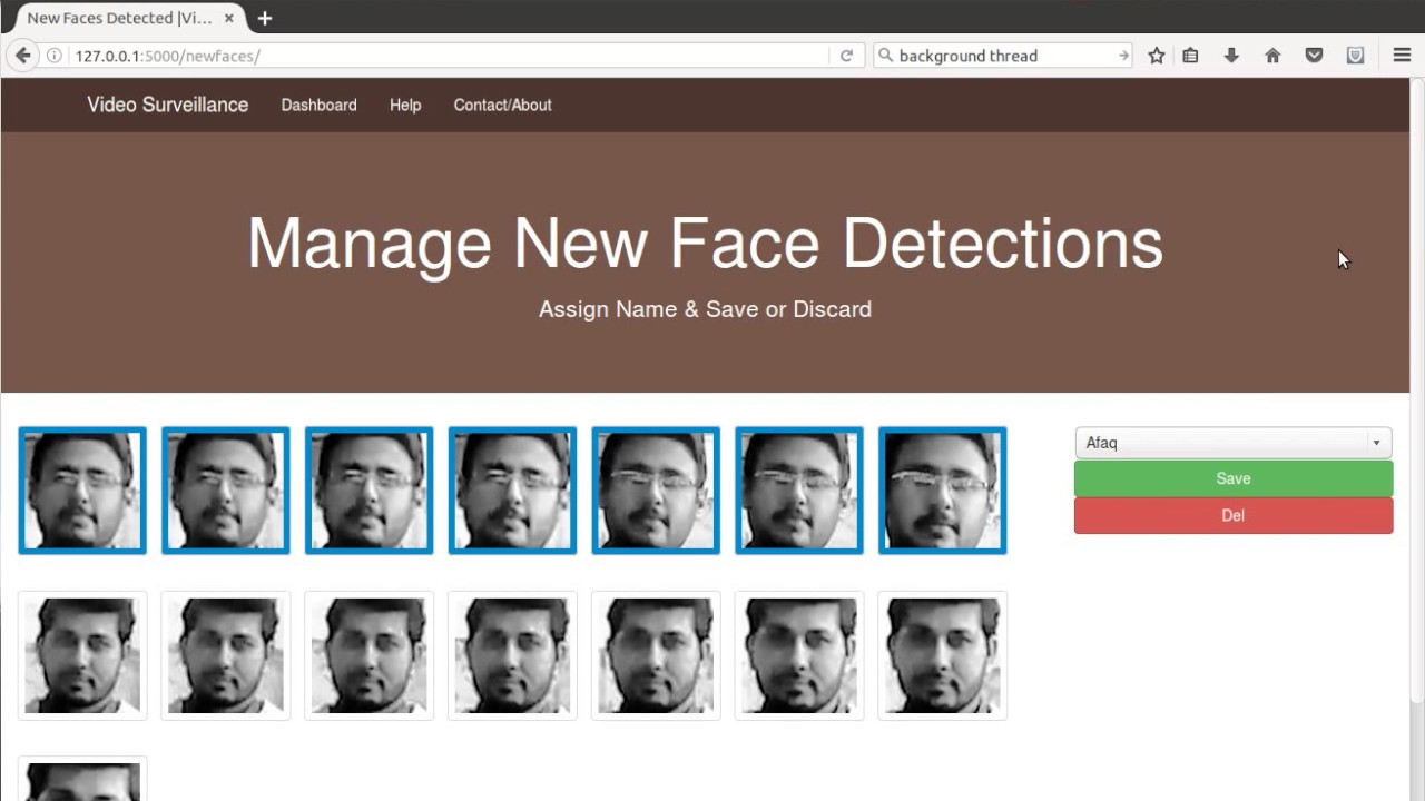 Opencv Face Recognition & Detection with Python for Live Video Surveillance