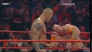 John Cena vs Randy Orton vs Sheamus vs Edge WWE Fatal-4 Way 2010 Highlights HQ