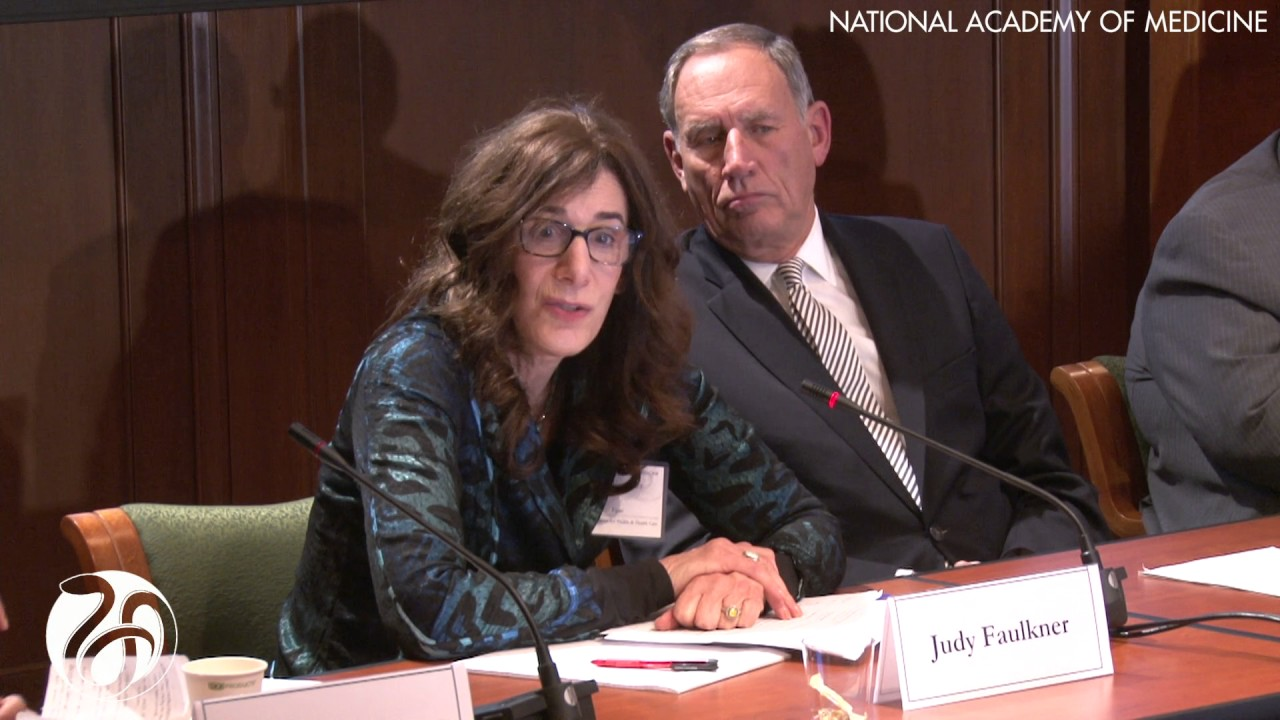 Vital Directions for Health & Health Care: Priorities from an NAM  Initiative (Judy Faulkner)