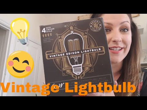 Vintage Edison Light bulbs look AWESOME! - Unboxing & Review