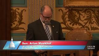 Sen. Meekhof delivers end of year statement