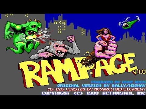 Rampage gameplay (PC Game, 1987)