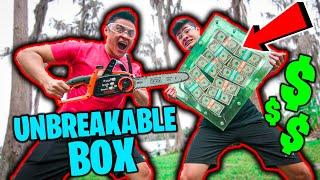$10,000 IF WE BROKE THE BOX!! (UNBREAKABLE GLASS CHALLENGE)