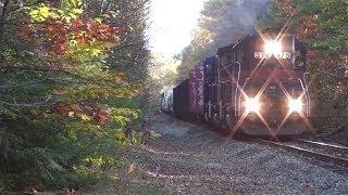 HD Pan Am Railways POWA 376 + RUPO 511 - Auburn Maine Area - 10/18/2013