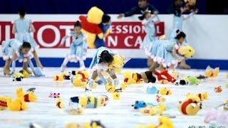 プーさん好きで知られるフィギュアスケートの羽生結弦選手の演技終了後....