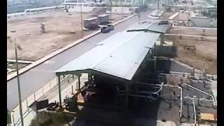 CCTV - Explosion on refinery in Mexico.
