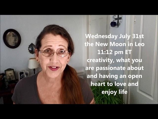 New Moon in Leo July 31 Mercury Direct #nhastrologer