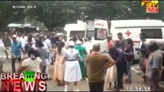 В результате взрывов на Шри-Ланке погибли не менее 129 человек — видео