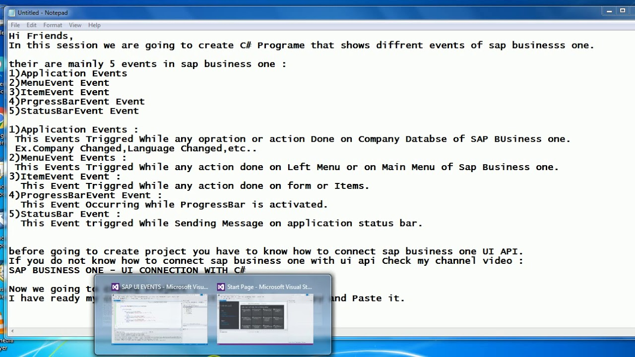 SAP BUSINESS ONE - EVENTS IN UI - API WITH C#