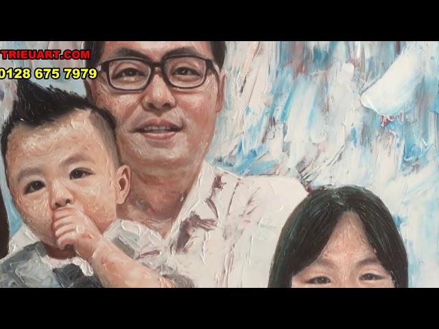Vẽ tranh chân dung đắp bay nghệ thuật tại TrieuArt.com - ĐT: 078 675 7979