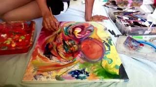 """HOUSE OF """"HIPPIES""""  art timelapse with Dewey"""