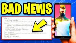 Fortnite MOBILE ANDROID Release Date LEAKED! *BAD NEWS* (Fortnite Season 5)
