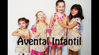 Avental infantil passo a passo – MOLDE GRÁTIS – Perfeita para iniciantes