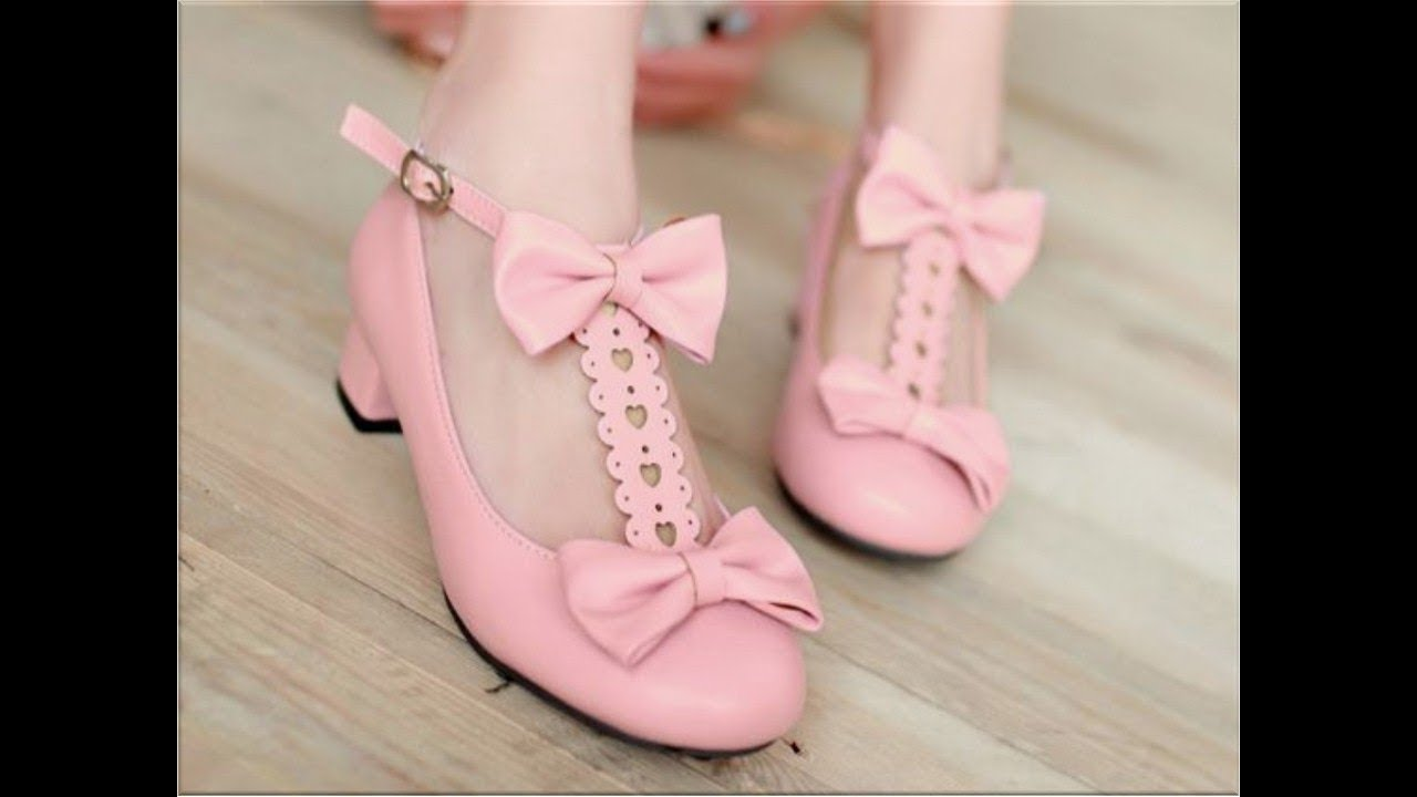 [VIDEO] - UNIQUE BOWKNOT MID HEELS CUTE SHOES DESIGNS FOR GIRLS AND WOMEN 1