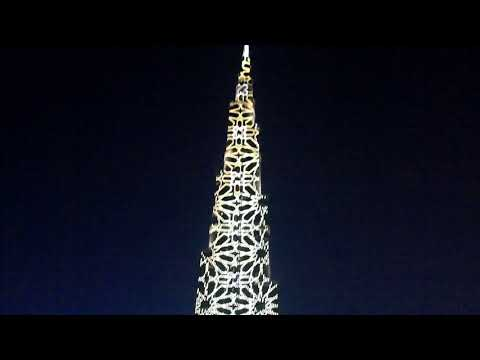 Dubai Burj Khalifa.  Light show.  Дубай Бурдж-Халифа. Световое шоу.