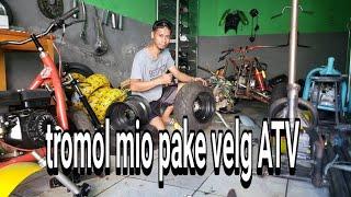Tromol custom mio pake velg ATV lebar 8inch