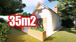 Dom 35m2, fundament punktowy czy zwykły,  mini konkurs, dom bez pozwolenia, dom na zgłoszenie