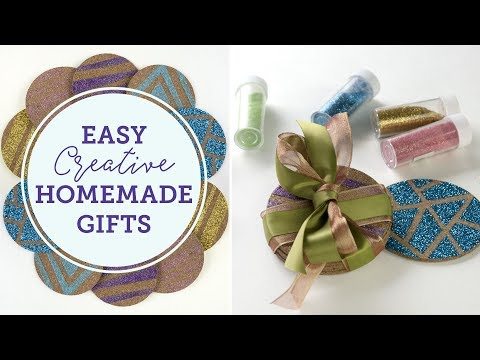 Easy Creative Homemade Gifts 2017 🎁 | Glitter Coasters | BalsaCircle.com