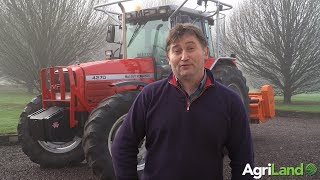 AgriLand meets a hedge-cutting contractor...with well over 30,000 hours on an MF 4270